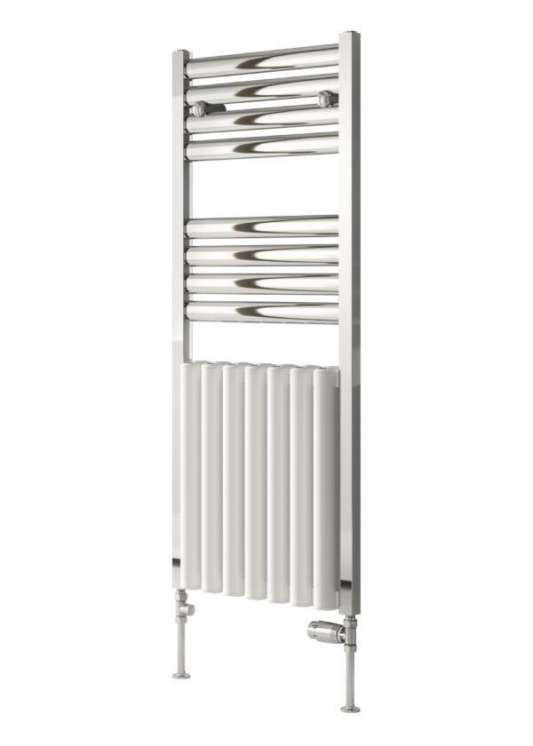 reina burton modern traditional towel radiator towel rail aluminium white chrome