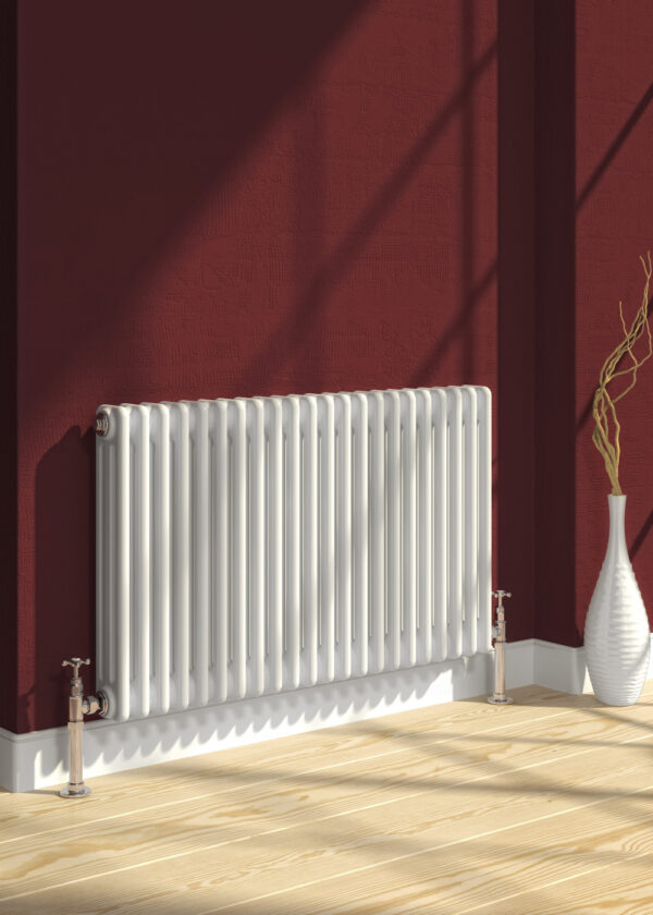 reina colona 2 column horizontal white radiator modern traditional