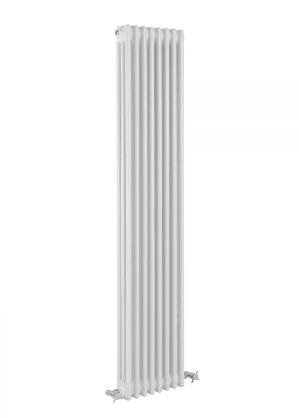 reina colona 3 column vertical radiator modern traditional mild steel white