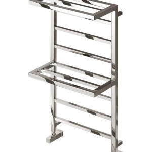 reina elvina 2 towel rail radiator chrome mild steel modern