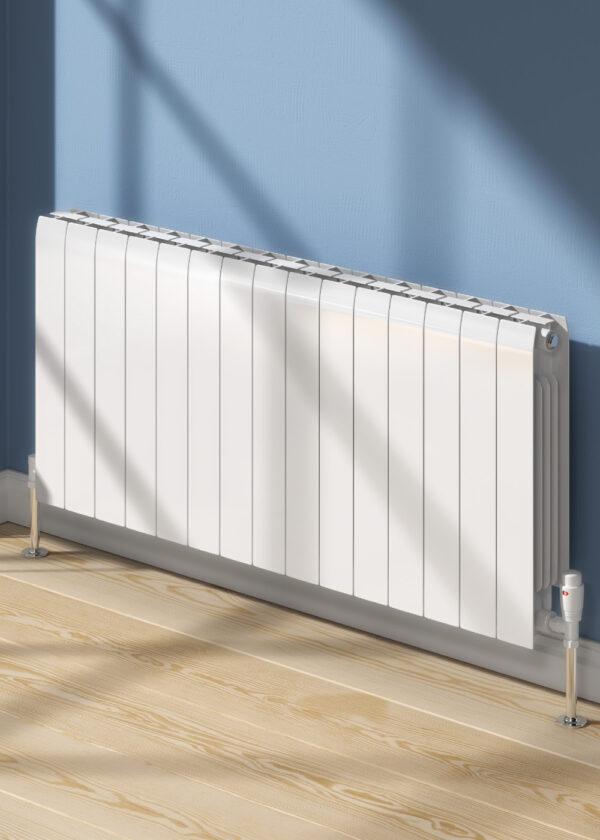 reina miray aluminium horizontal radiator modern white