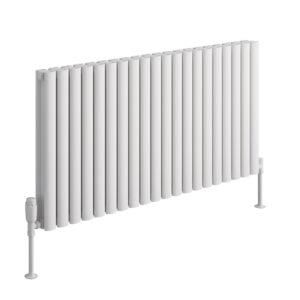 reina neval horizontal aluminium designer radiator anthracite white polished