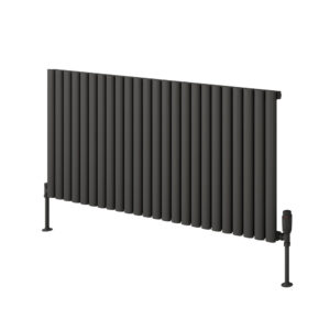 Reina Neval single horizontal aluminium radiator modern stylish anthracite
