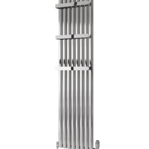 Reina Neval single vertical aluminium radiator modern stylish polished