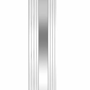 reina reflect vertical black white mild steel mirror radiator modern