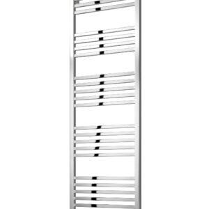 reina vasto towel rail radiator mild steel modern chrome