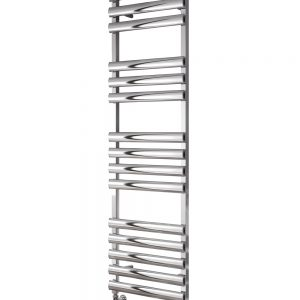 reina veroli towel rail vertical polished aluminium modern