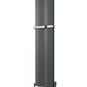 reina wave vertical double single white anthracite aluminium radiator towel bar