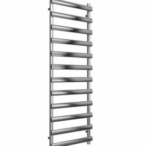reina deno vertical brushed polished stainless steel towel rail radiator