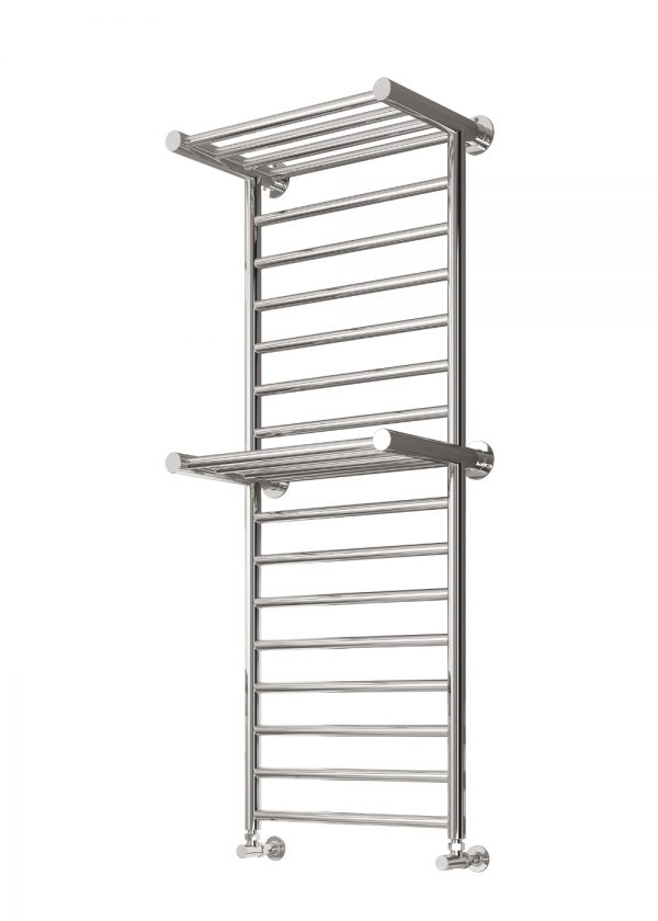 reina adena towel rail radiator polished stainless steel modern