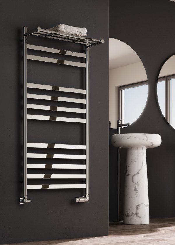reina alento towel rail radiator polished stainless steel modern